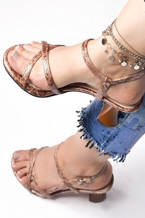 Tessera Kadın Bej Topuklu Sandalet 0