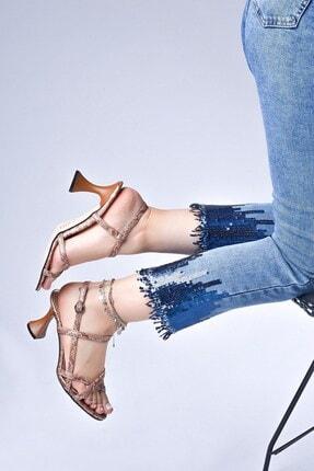 Tessera Kadın Bej Topuklu Sandalet 2
