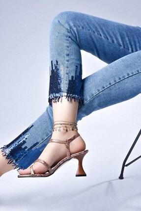 Tessera Kadın Bej Topuklu Sandalet 3