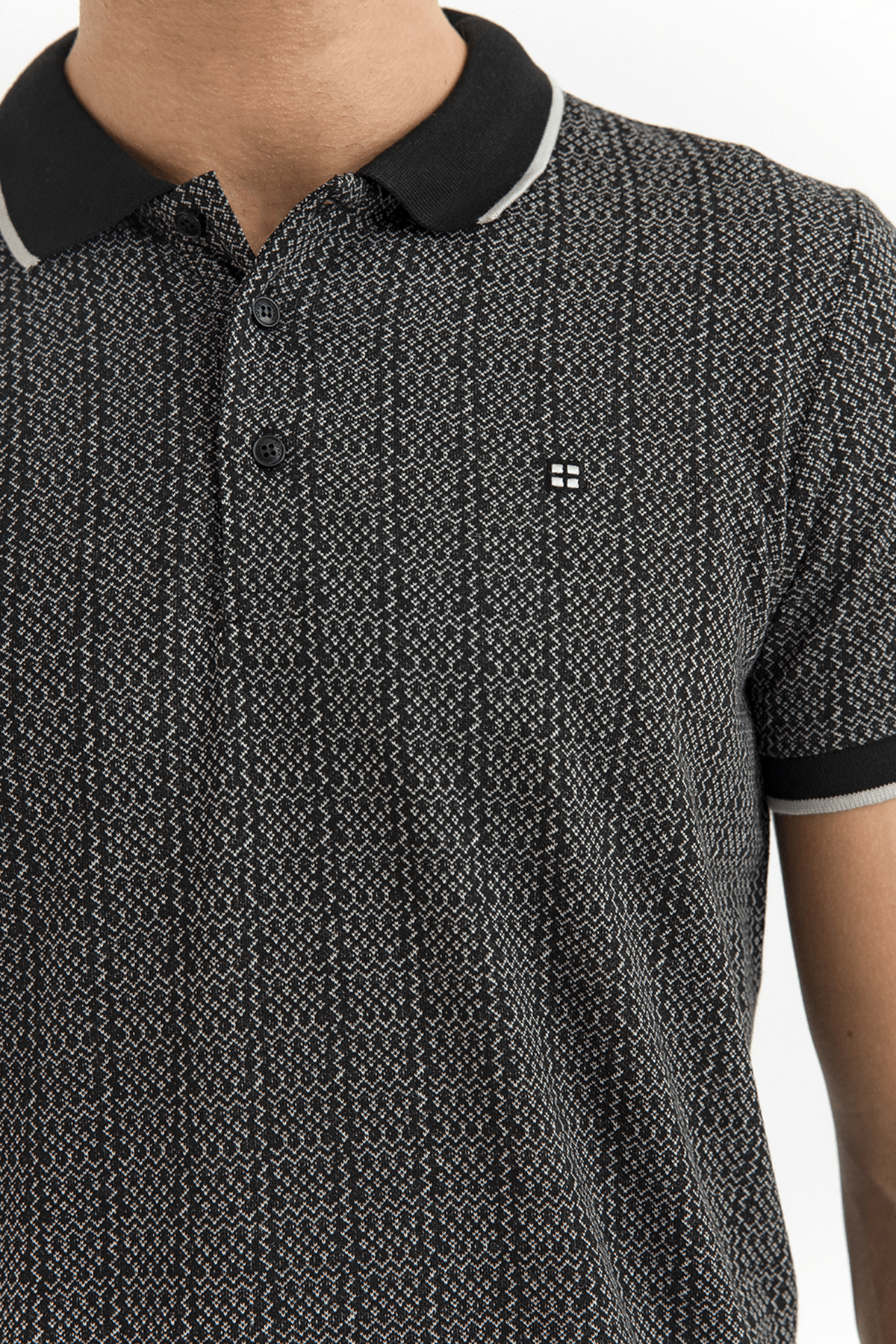 Avva Polo Yaka Jakarlı T-Shirt 2