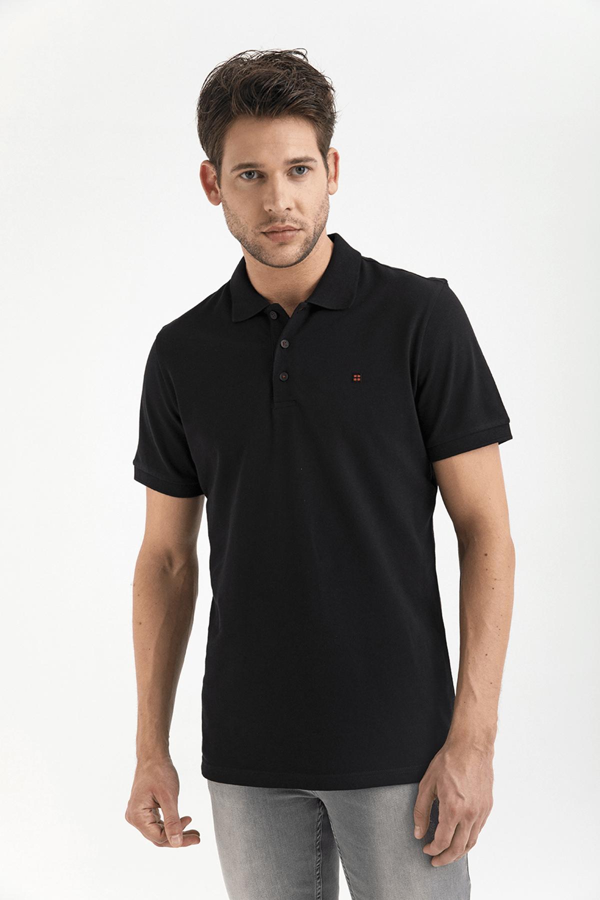 Avva Polo Yaka Düz T-Shirt 3