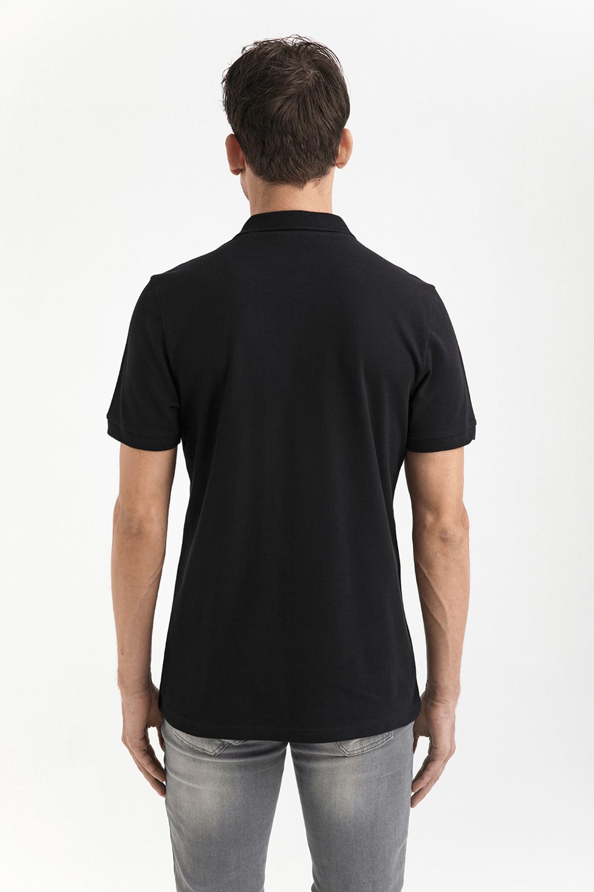 Avva Polo Yaka Düz T-Shirt 4