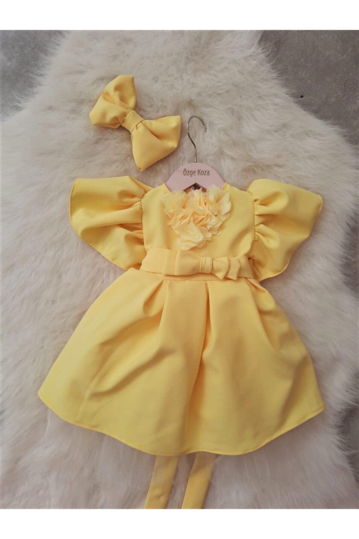 Bebek/kız Çocuk Elbisesi Bandana Hediyeli