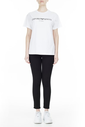 Emporio Armani Kadın Beyaz T-Shirt 3Z2T7Q 2Jo4Z S121 4