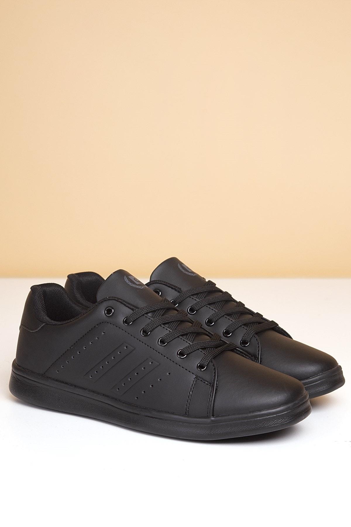 Erkek Günlük Spor Ayakkabı-Siyah PCS-10152