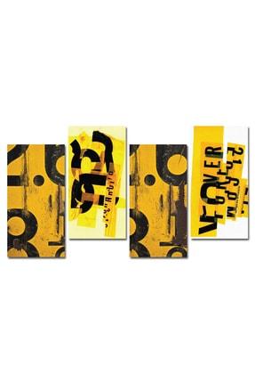 Cadran French Style 4 Parçalı Mdf Tablo Zle030 1