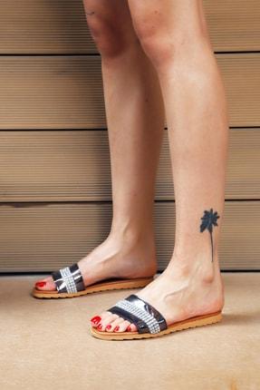Ayakkabı Modası Platin Taba Kadın Terlik M5003-19-122002R 0