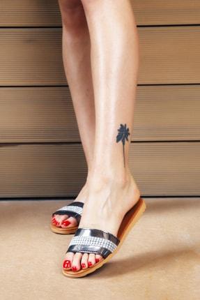 Ayakkabı Modası Platin Taba Kadın Terlik M5003-19-122002R 1