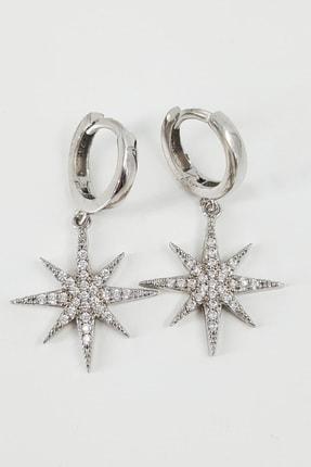 İnci Jewel Sallantılı Kuzey Yıldızı Küpe Gümüş 0