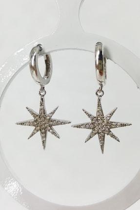 İnci Jewel Sallantılı Kuzey Yıldızı Küpe Gümüş 1