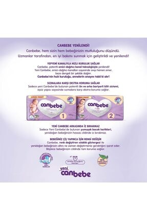 Canbebe Jumbo Paket 3 Numara Bebek Bezi 204 Adet 2