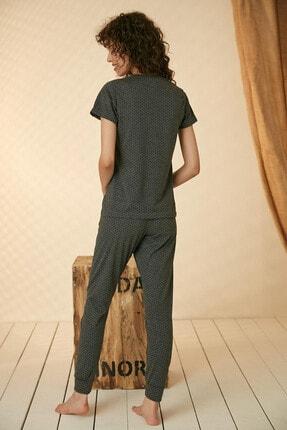 Morpile Kadın Füme Baskılı Pijama Takım 4