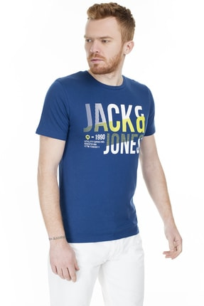 Jack & Jones Tişört Foke Crew Neck 12172215-NVY 2