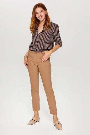 Kadın Camel Slim Fit Klasik Pantolon 60058 U60058 resmi
