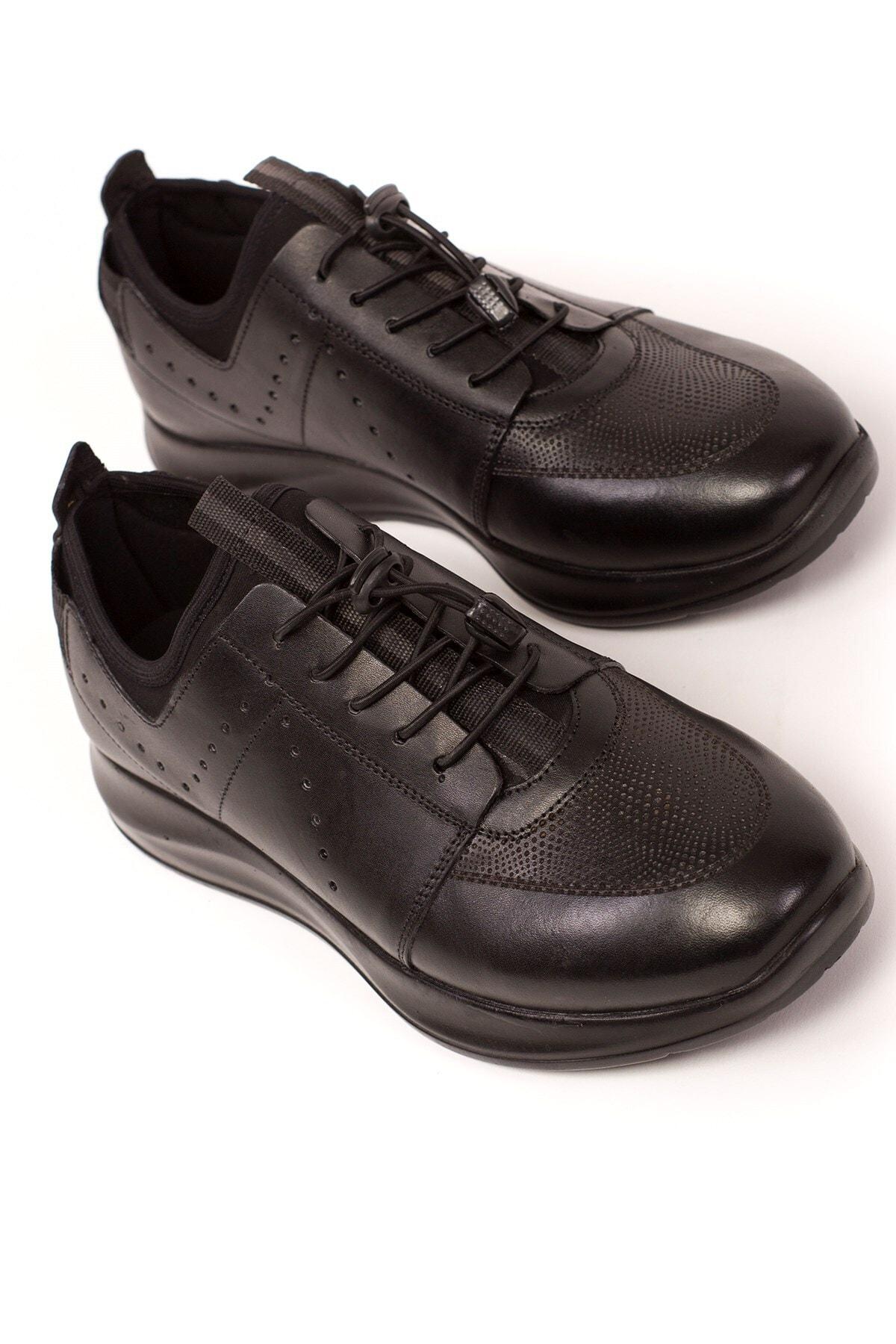 Hakiki Deri, Ortopedik, Yüksek Tabanlı, Çok Rahat, Erkek Spor Ayakkabı