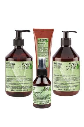 EveryGreen Kabarma ve Elektriklenme Karşıtı Anti Frizz - Asi Kabaran Saçlar Serisi  Şampuan 500ml+Krem 500ml 0
