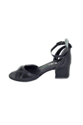 PUNTO Kadın Siyah Kalın Topuk Ayakkabı 2