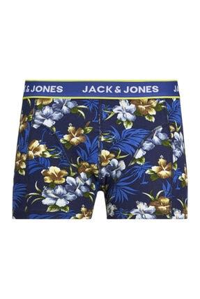 Jack & Jones 3'lü Boxer - Flowers Trunks 12171253 1