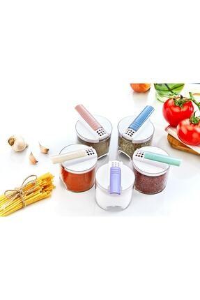 Kitchen Life Akrilik Renkli Geçmeli 5'Li Bremen Baharatlık Seti 1