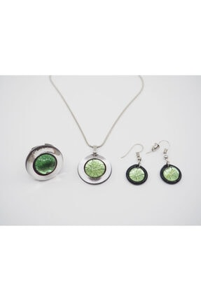 NK Artglass Kadın Yeşil Venecia Set 1