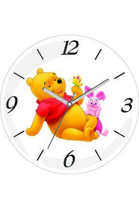 3M Winnie The Pooh Ikili Sessiz Akar Bombeli Gerçek Cam Duvar Saati 0