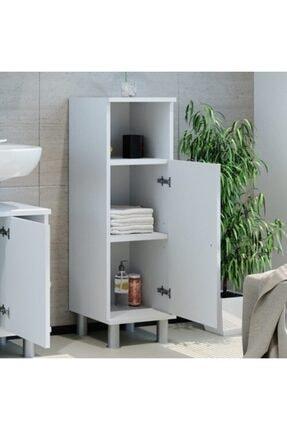 Taç-Dek Taç Dekorasyon Tek Kapaklı Yer Banyo Dolabı Beyaz 1