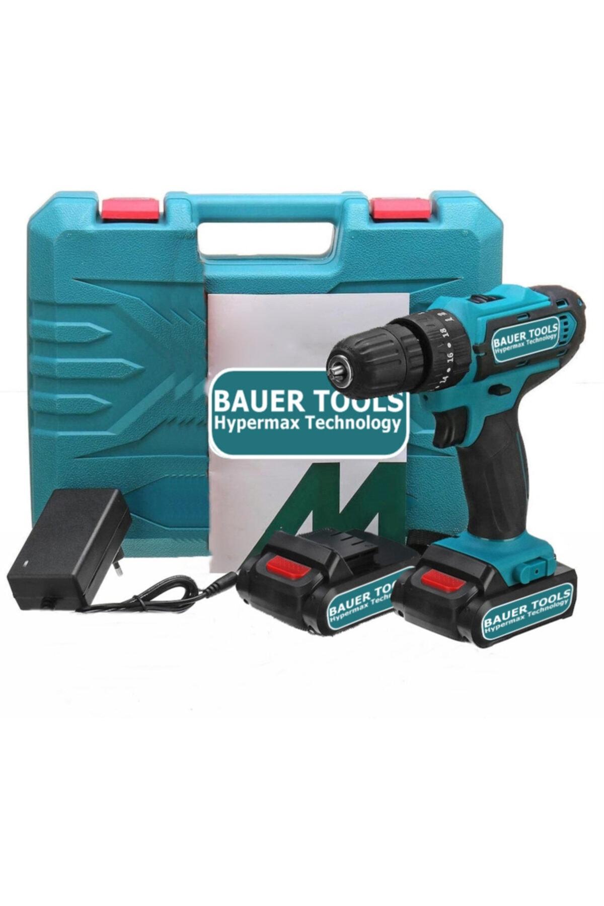 Power Tools 32 Volt 5.0 Amper Çift Akülü Şarjlı Vidalama Matkap