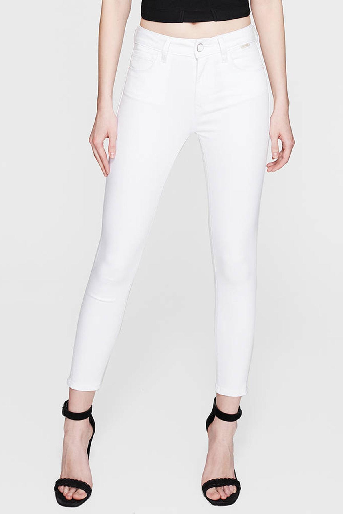Mavi Kadın Tess Gold Beyaz Jean Pantolon 100328-28143 1