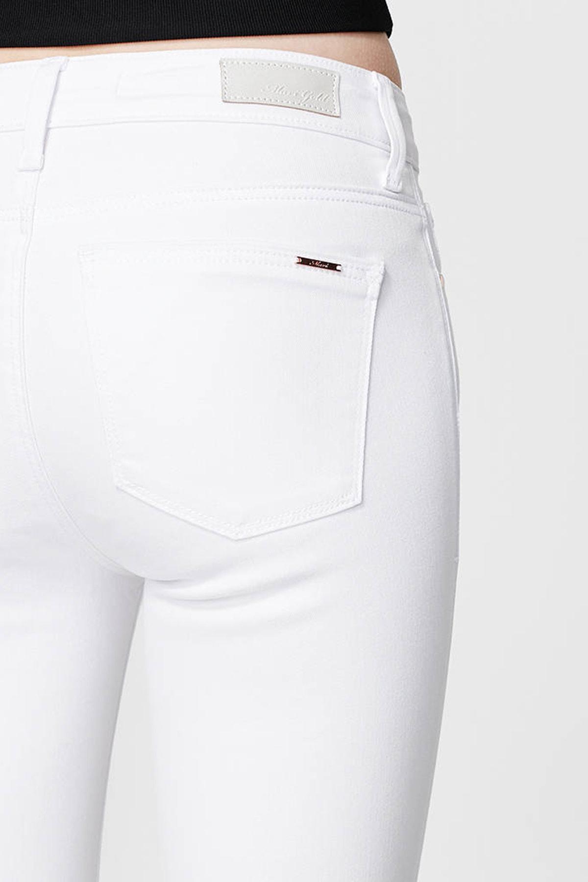 Mavi Kadın Tess Gold Beyaz Jean Pantolon 100328-28143 4