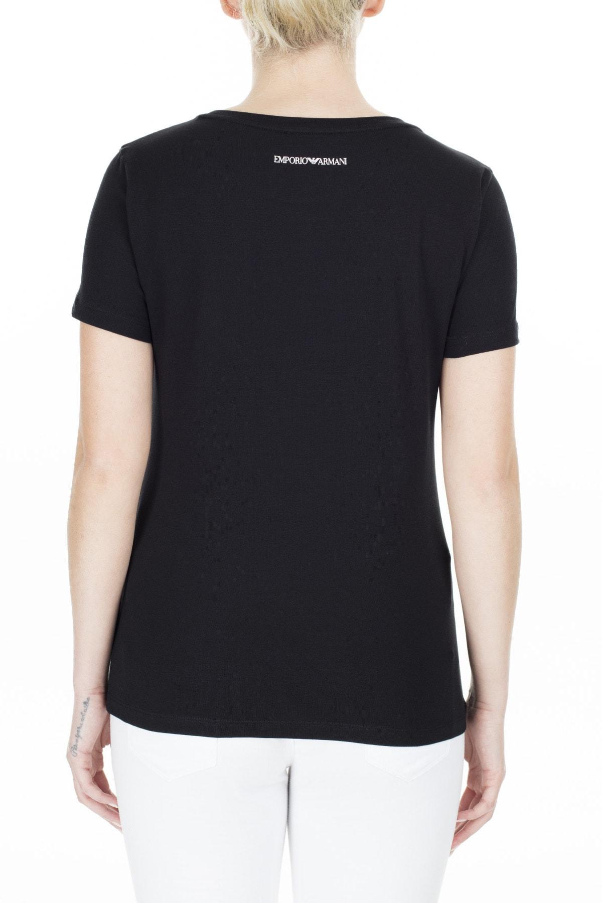 Emporio Armani Kadın Siyah T-Shirt 3H2T6C 2Jqaz 0999 1