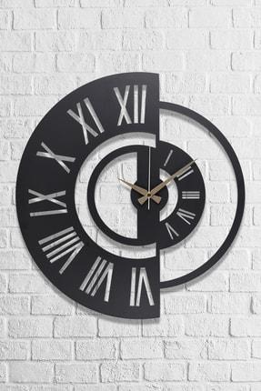 Muyika Design Muyika Ruota Metal Siyah Duvar Saati 50x50 cm 1