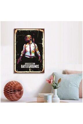 FERMAN HEDİYELİK Pubg Ahşap Retro Poster 17,5x27,5 cm 0
