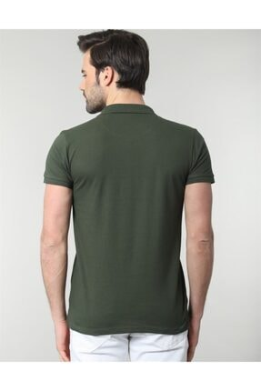 Tudors Erkek Yeşil Polo Yaka Düz Spor Erkek T-shirt 2