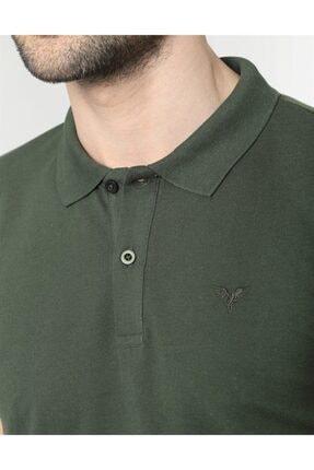 Tudors Erkek Yeşil Polo Yaka Düz Spor Erkek T-shirt 3