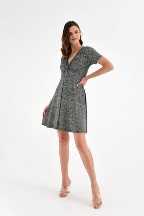 Laranor Kadın Desen-3 Yaka Detay Desenli  Elbise 18L6315 1