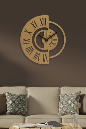 Muyika Design Muyika Routa Gold/eskitme Rengi Metal Duvar Saati 41x41cm 0