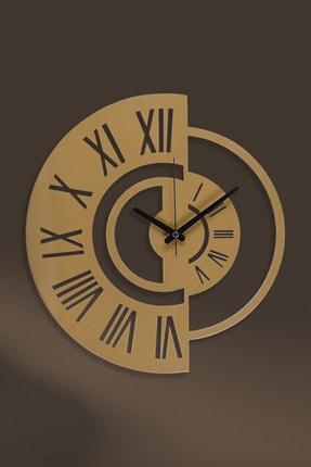 Muyika Design Muyika Routa Gold/eskitme Rengi Metal Duvar Saati 41x41cm 1
