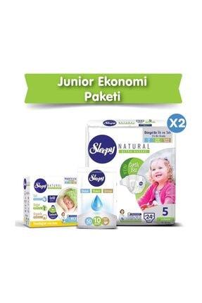 Sleepy Natural Bebek Bezi 5 Numara Junior Ekonomi Paketi 1