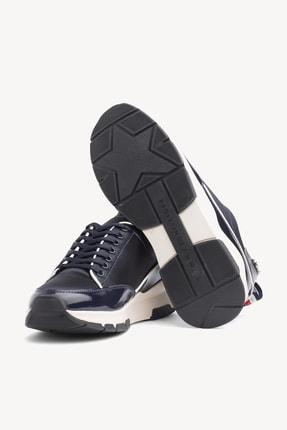Tommy Hilfiger Kadın Cool Technical Satın Sneaker 4
