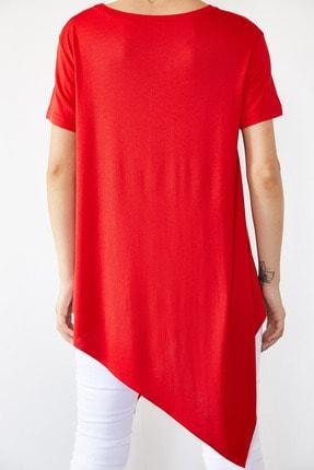 Xena Kadın Kırmızı Asimetrik Bluz 0YZK2-10096 1