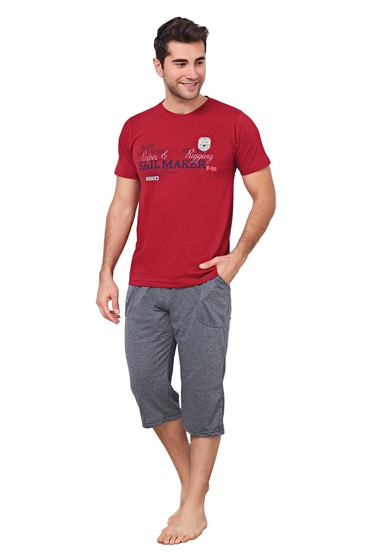 Redsail Kırmızı/gri Pijama Takımı