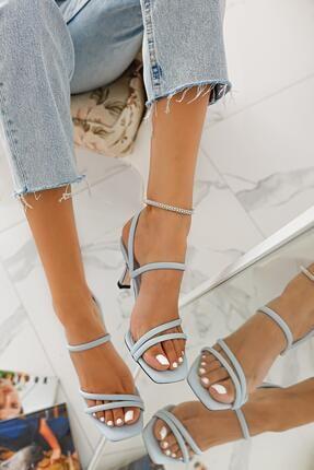 Limoya Hadleigh Bebe-mavi Bantlı Kısa Ince Topuklu Sandalet 2