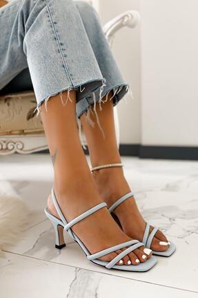 Limoya Hadleigh Bebe-mavi Bantlı Kısa Ince Topuklu Sandalet 3