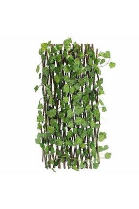 Nettenevime Yapay Çiçek Akordiyon Çit Yapay Sarmaşık lı Duvar Dekoru 210x90 cm 2