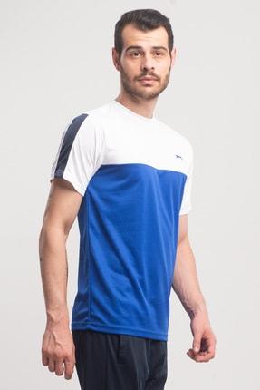 Slazenger Texas Erkek T-shirt Saks Mavi St10te143 2