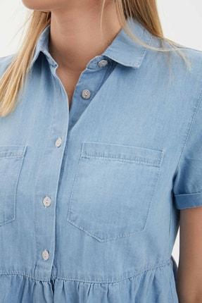Defacto Kadın Mavi Jean Elbise K7242AZ.20SM.NM39 3