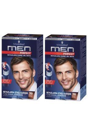 Schwarzkopf Perfect Men 70 Koyu Kahve Saç Boyası X 2 Adet 0