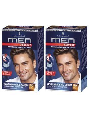 Schwarzkopf Perfect Men 60 Kahve Saç Boyası X 2 Adet 0