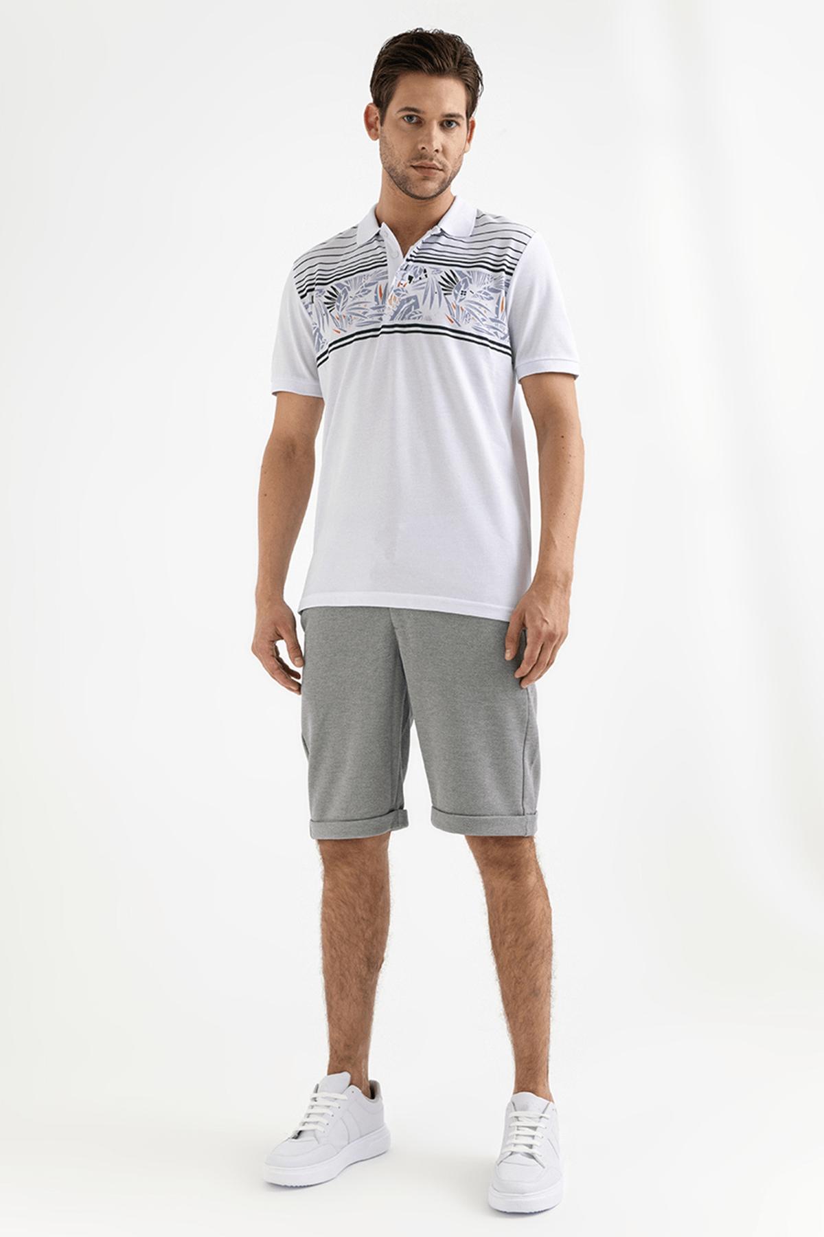 Avva Polo Yaka Baskılı T-Shirt 3