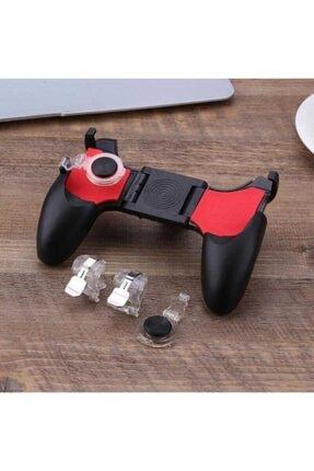 Fibaks Realme 5i Için Pubg Mobil Oyun Konsolu Aparatı Ateş Tetik Gamepad Joystick 5 In 1 Katlanabilir 2